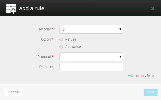 Add a Rule