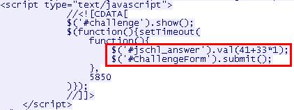 CloudFlare solver script